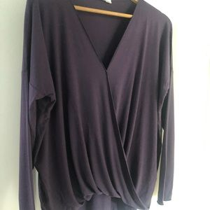 Double Zero Long Sleeve Wrap Top